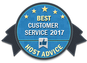 CW3 - Great Customer Service Award from HostAdvice